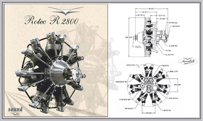 Rotec R2800 7-Cylinder and 9-Cylinder Radial Engines